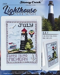 Lighthouse of the Month July Grand Island MI - (Cross Stitch)