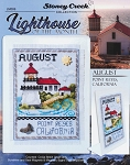 Lighthouse of the Month - August Point Reyes CA - (Cross Stitch)