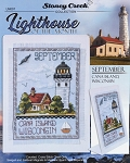 Lighthouse of the Month September Cana Island WI - (Cross Stitch)