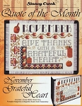 Quote of the Month November Grateful Heart - (Cross Stitch)