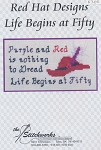 Life Begins at Fifty - (Cross Stitch)
