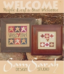 Maple Leaf & Star Welcome - (Cross Stitch)