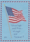 Patriotic Flag - (Cross Stitch)