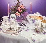 Grapevine Table Linen Collection - (Cross Stitch)
