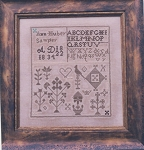 Ann Huber 1834 Sampler - (Cross Stitch)