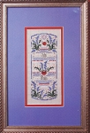 July Ruby & Larkspur w/charm - (Cross Stitch)