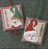 Snowman & Santa Ornaments - (Cross Stitch)