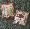 Rudolph & Mrs. Claus Ornaments - (Cross Stitch)