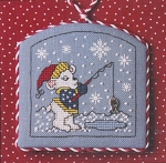 Christmas Fishin' - (Cross Stitch)