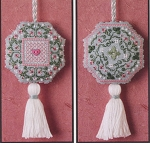 Colonial Roses Fob - (Cross Stitch)