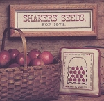 Shaker Seeds and Basket of Apples
