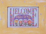 Charmed Welcome Spring - (Cross Stitch)