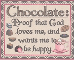 Chocolate Lover's Proof - (Cross Stitch)