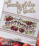 Towels of the Month September Apples - (Cross Stitch)