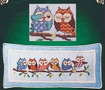 Outrageous Owls - (Cross Stitch)