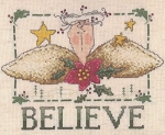 Believe Angel Bust - (Cross Stitch)