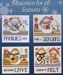 Snowmen for all Seasons - (Cross Stitch)