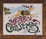 Merry Christmas Reindeer & Mice - (Cross Stitch)