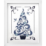 O Tannenbaum in Blue - (Cross Stitch)