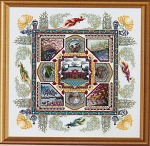 The Chinese Garden Mandala - (Cross Stitch)