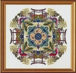 The Japanese Moss Garden Mandala - (Cross Stitch)