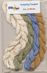 Arc of White Dinky-Dyes Silk Thread pack - (Cross Stitch)