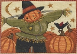 Happy Scarecrow - (Cross Stitch)