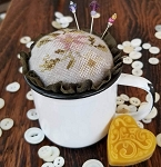 Floral Cup Pincushion Kit - (Cross Stitch)
