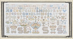1717 Friesland Sampler - (Cross Stitch)