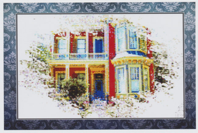 Row House #2 - (Cross Stitch)
