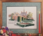 The Governors Palace Colonia Gardens - (Cross Stitch)