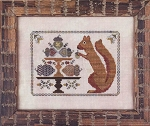 Autumn Squirrel - (Cross Stitch)