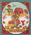 A Year of Animal Fun - November - (Cross Stitch)