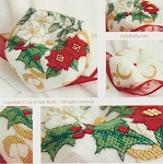 Christmas Wreath Biscornu - (Cross Stitch)