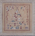 Knitting Christmas Tree - (Cross Stitch)