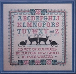 Be Kind to Your Cat Sampler - (Cross Stitch)