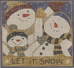 Let It Snow - (Cross Stitch)