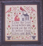 Labor for Learning Sampler - (Cross Stitch)