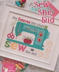 Sew She Did - (Cross Stitch)