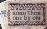 Count Your Many Blessings - (Cross Stitch)