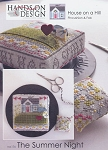 Summer Night House on a Hill Pincushion & Fob - (Cross Stitch)