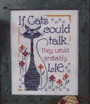 If Cats Could Talk - (Cross Stitch)