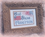 God Belss America - (Cross Stitch)