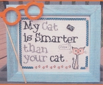 My Cat is Smarter - (Cross Stitch)