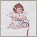 Stitched Angel with Scissors