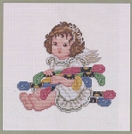 Stitching Angel with Floss