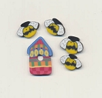 Folk Art Bunny Tree Button Pack Fanci That