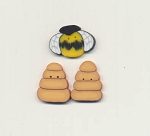 Beehive in a Garden Button Pack Fanci That