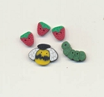 Strawberries for Sale Button Pack Fanci That