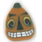 Small Spooky Jack Button #4528.S